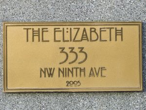 The Elizabeth Nameplate